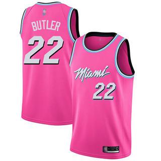 Youth Heat #22 Jimmy Butler Pink Basketball Swingman Earned Edition Jersey