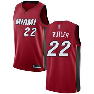 Youth Heat #22 Jimmy Butler Red Basketball Swingman Statement Edition Jersey