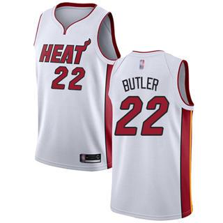 Youth Heat #22 Jimmy Butler White Basketball Swingman Association Edition Jersey
