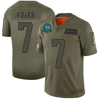 Youth Jaguars #7 Nick Foles Camo Stitched Football Limited 2019 Salute To Service Jersey