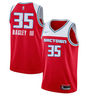 Youth Kings #35 Marvin Bagley III Red Basketball Swingman City Edition 2019-2020 Jersey