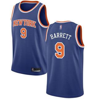Youth Knicks #9 R.J. Barrett Blue Basketball Swingman Icon Edition Jersey