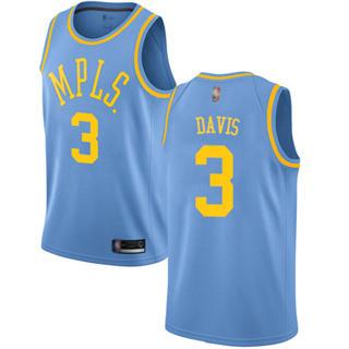 Youth Lakers #3 Anthony Davis Royal Blue Basketball Swingman Hardwood Classics Jersey