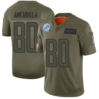 Youth Lions #80 Danny Amendola Camo Stitched Football Limited 2019 Salute To Service Jersey