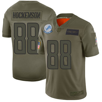 Youth Lions #88 T.J. Hockenson Camo Stitched Football Limited 2019 Salute To Service Jersey
