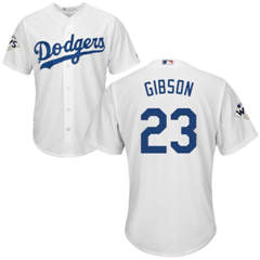 Youth Los Angeles Dodgers #23 Kirk Gibson White Cool Base 2017 World Series Bound Stitched Youth Baseball Jersey