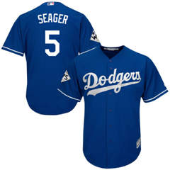 Youth Los Angeles Dodgers #5 Corey Seager Blue Cool Base 2017 World Series Bound Stitched Baseball Jersey