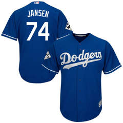 Youth Los Angeles Dodgers #74 Kenley Jansen Blue Cool Base 2017 World Series Bound Stitched Youth Baseball Jersey
