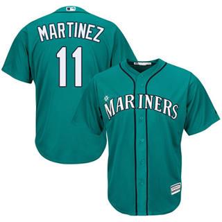 Youth Mariners #11 Edgar Martinez Green Cool Base Stitched Baseball Jersey