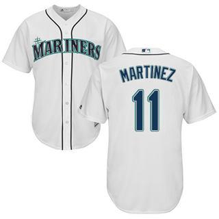 Youth Mariners #11 Edgar Martinez White Cool Base Stitched Baseball Jersey