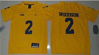 Youth Michigan Wolverines #2 Charles Woodson Gold Jordan Brand Stitched NCAA Jersey