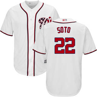 Youth Nationals #22 Juan Soto White Cool Base Stitched Baseball Jersey