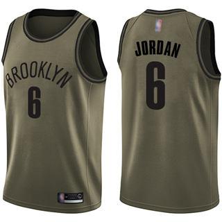 Youth Nets #6 DeAndre Jordan Green Salute to Service Basketball Swingman Jersey