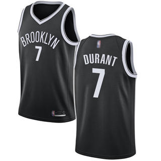 Youth Nets #7 Kevin Durant Black Basketball Swingman Icon Edition Jersey