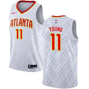 Youth  Atlanta Hawks #11 Trae Young White Basketball Swingman Association Edition Jersey