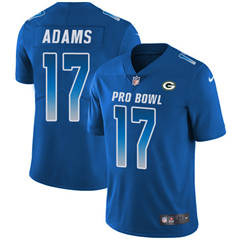 Youth  Green Bay Packers #17 Davante Adams Royal Stitched Football Limited NFC 2018 Pro Bowl Jersey