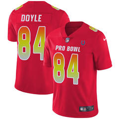 Youth  Indianapolis Colts #84 Jack Doyle Red Stitched Football Limited AFC 2018 Pro Bowl Jersey
