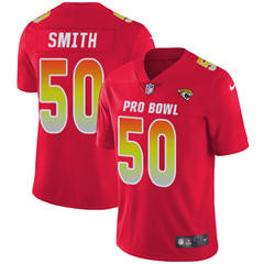 Youth  Jacksonville Jaguars #50 Telvin Smith Red Stitched Football Limited AFC 2018 Pro Bowl Jersey