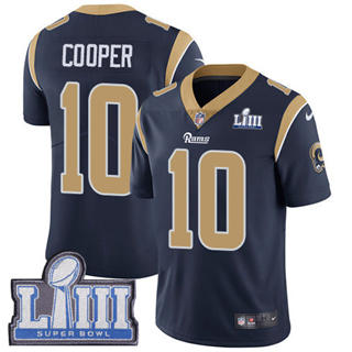 Youth  Rams #10 Pharoh Cooper Navy Blue Team Color 2019 Super Bowl 53 LIII Bound Stitched Football Vapor Untouchable Limited Jersey