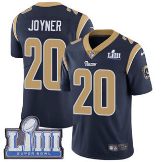 Youth  Rams #20 Lamarcus Joyner Navy Blue Team Color 2019 Super Bowl 53 LIII Bound Stitched Football Vapor Untouchable Limited Jersey