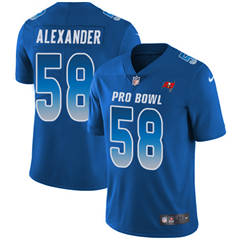 Youth  Tampa Bay Buccaneers #58 Kwon Alexander Royal Stitched Football Limited NFC 2018 Pro Bowl Jersey