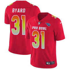 Youth  Tennessee Titans #31 Kevin Byard Red Stitched Football Limited AFC 2018 Pro Bowl Jersey