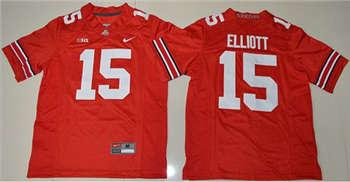 Youth Ohio State Buckeyes #15 Ezekiel Elliott Red Stitched NCAA Jersey