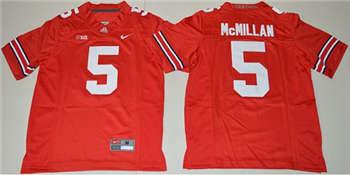 Youth Ohio State Buckeyes #5 Raekwon McMillan Red Stitched NCAA Jersey