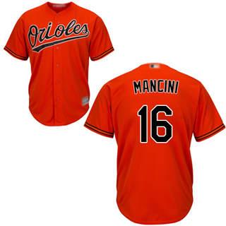 Youth Orioles #16 Trey Mancini Orange Cool Base Stitched Baseball Jersey