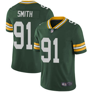 Youth Packers #91 Preston Smith Green Team Color Stitched Football Vapor Untouchable Limited Jersey