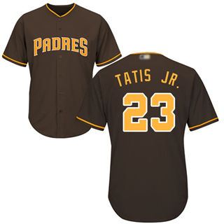 Youth Padres #23 Fernando Tatis Jr. Brown Cool Base Stitched Baseball Jersey