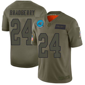 Youth Panthers #24 James Bradberry Camo Stitched Football Limited 2019 Salute To Service Jersey