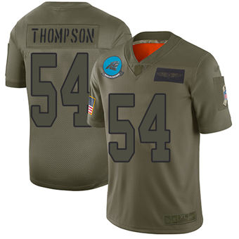 Youth Panthers #54 Shaq Thompson Camo Stitched Football Limited 2019 Salute To Service Jersey