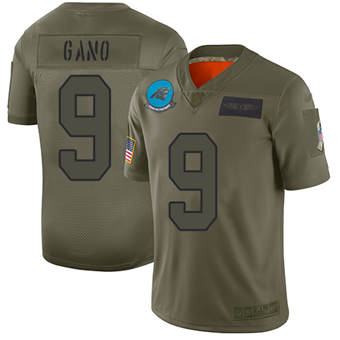 Youth Panthers #9 Graham Gano Camo Stitched Football Limited 2019 Salute To Service Jersey