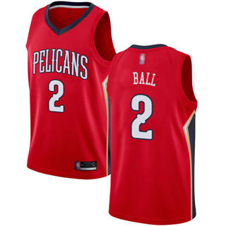Youth Pelicans #2 Lonzo Ball Red Basketball Swingman Statement Edition Jersey