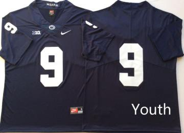 Youth Penn State Nittany Lions #9 Trace McSorley Navy  NCAA College Football Jersey