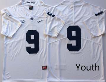 Youth Penn State Nittany Lions #9 Trace McSorley White  NCAA College Football Jersey