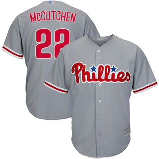Youth Phillies #22 Andrew McCutchen Grey Cool Base Stitched Baseball Jersey
