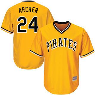 Youth Pirates #24 Chris Archer Gold Cool Base Stitched Baseball Jersey