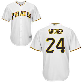 Youth Pirates #24 Chris Archer White Cool Base Stitched Baseball Jersey