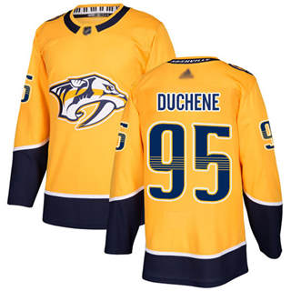 Youth Predators #95 Matt Duchene Yellow Home  Stitched Hockey Jersey