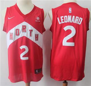 Youth Raptors #2 Kawhi Leonard Red Basketball Swingman Earned Edition Jersey