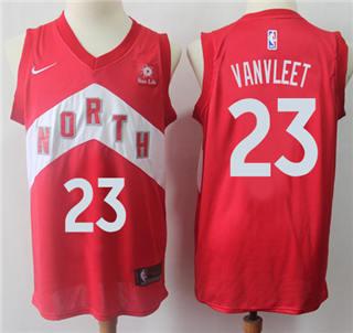 Youth Raptors #23 Fred VanVleet Red Basketball Swingman Earned Edition Jersey