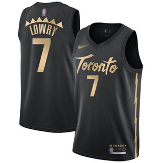 Youth Raptors #7 Kyle Lowry Black Basketball Swingman City Edition 2019-2020 Jersey