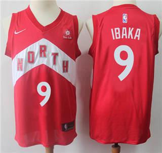 Youth Raptors #9 Serge Ibaka Red Basketball Swingman Earned Edition Jersey