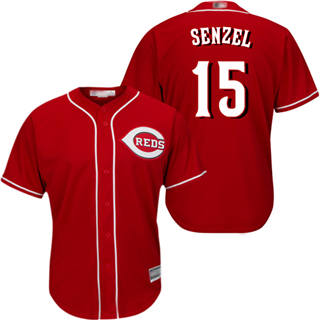Youth Reds #15 Nick Senzel Red Cool Base Stitched Baseball Jersey