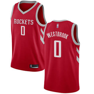 Youth Rockets #0 Russell Westbrook Red Basketball Swingman Icon Edition Jersey