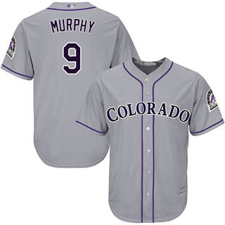 Youth Rockies #9 Daniel Murphy Grey New Cool Base Stitched Baseball Jersey