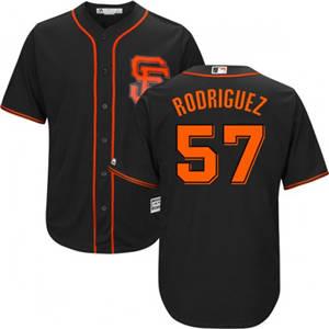 Youth San Francisco Giants #57 Derek Rodriguez Black Cool Base Baseball Jersey