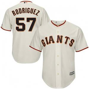 Youth San Francisco Giants #57 Derek Rodriguez Cream Cool Base Baseball Jersey